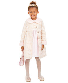 Blueberi Boulevard Toddler Girls 2-Pc. Faux-Fur-Trim Coat & Dress Set
