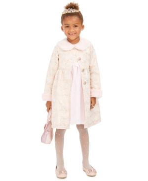 Vintage Style Children's Clothing: Girls, Boys, Baby, Toddler Blueberi Boulevard Toddler Girls 2-Pc. Faux-Fur-Trim Coat  Dress Set $29.60 AT vintagedancer.com