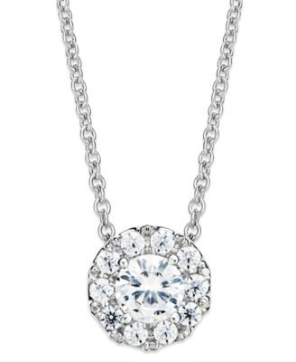 Macys diamond circle pendant necklace in 14k white gold 12 ct macys diamond circle pendant necklace in 14k white gold 12 ct tw jewelry watches necklaces macys mozeypictures Image collections