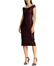Sequined Chenille Dress