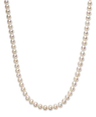 Fine Jewelry 36 Cultured Freshwater Pearl Sterling Silver Necklace