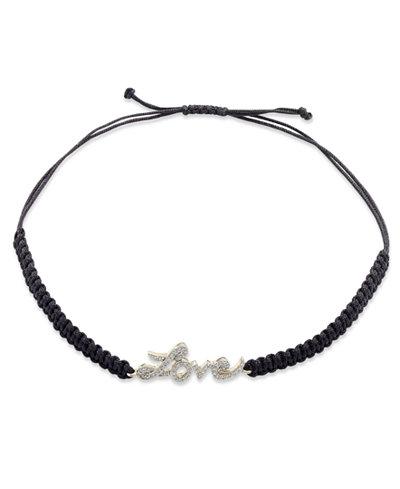 Diamond Love Parachute Cord Bracelet in (1/6 ct. t.w.)