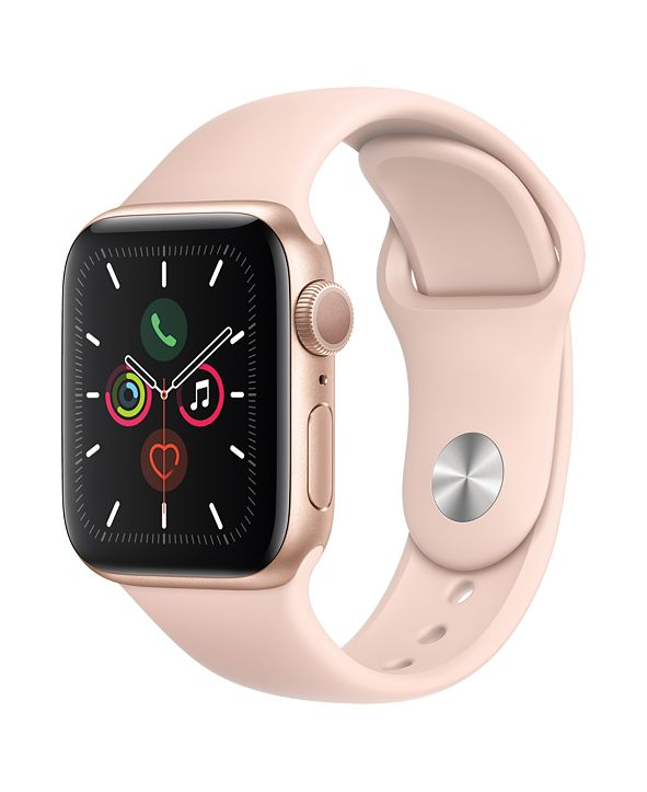 Apple Watch Series 5 GPS, 40mm Gold Aluminum Case with Pink Sand Sport Band