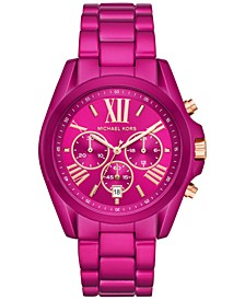 Women's Chronograph Bradshaw Electric Pink Stainless Steel Bracelet Watch 43mm