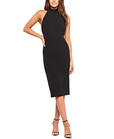 Open Bow-Back Sheath Dress