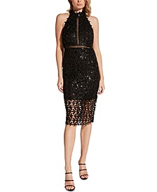 Gemma Sequined Sheath Dress
