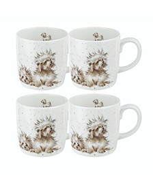 Wrendale The Best of Friends Mug Set/4