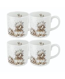 Royal Worcester Wrendale The Best of Friends Mug Set/4