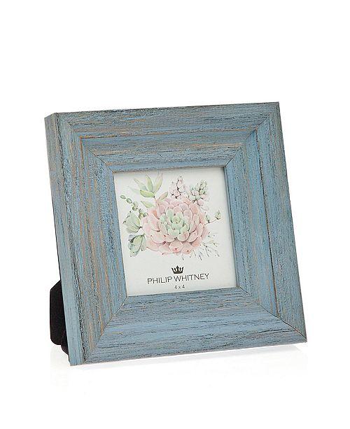 """Philip Whitney Light Blue Wood Frame - 4"""" x 4"""""""