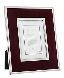 "Burgundy Velvet Double Band - 4""x 6"""