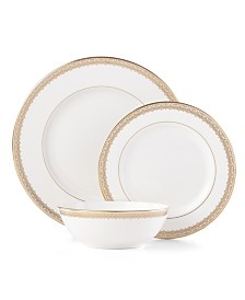 Lace Couture Gold 3 Piece Place Setting