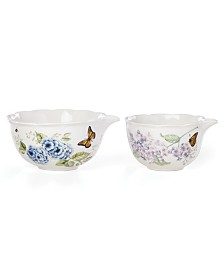 Lenox Butterfly Meadow Kitchen Set/2 Mixing Bowls, Created for Macy's