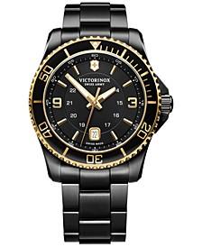 Men's Maverick Black PVD Stainless Steel Bracelet Watch 43mm