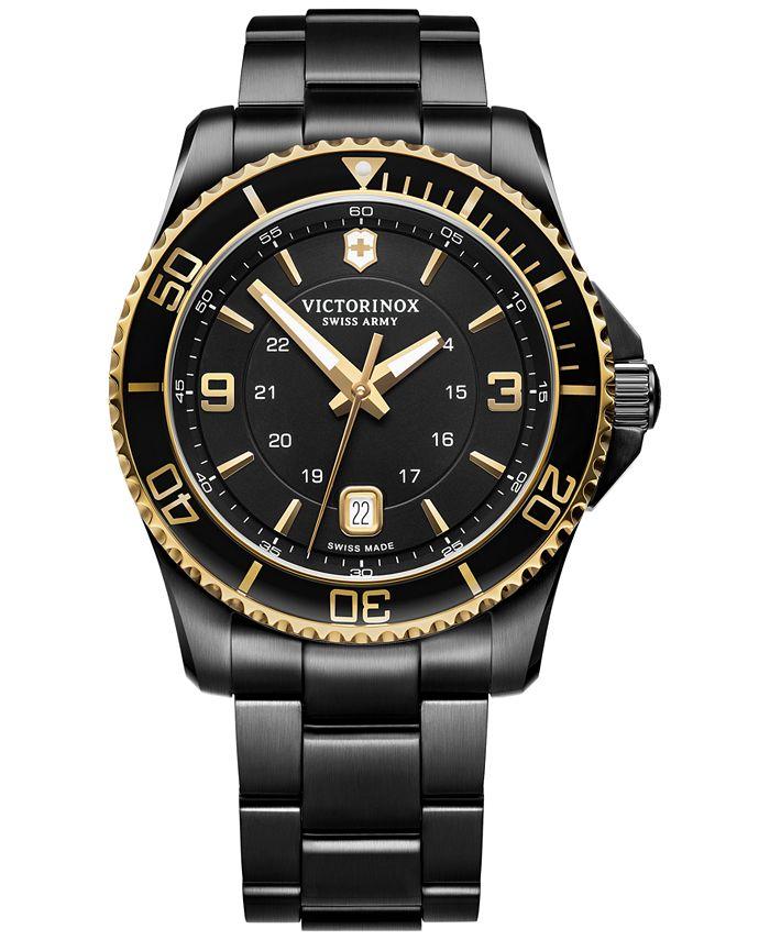Victorinox Swiss Army - Men's Maverick Black PVD Stainless Steel Bracelet Watch 43mm