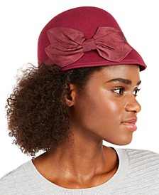 Wool Felt Bow Cloche