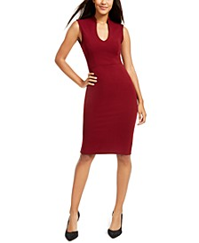 Juniors' V-Neck Bodycon Dress