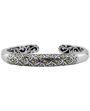 Dragon Skin Signature Cuff Bracelet in Sterling Silver and 18k Yellow Gold Accents