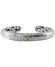 Bali Heritage Signature Cuff Bracelet in Sterling Silver and 18k Yellow Gold Accents