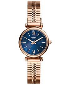 Women's Carlie Mini Rose Gold-Tone Stainless Steel Mesh Bracelet Watch 28mm