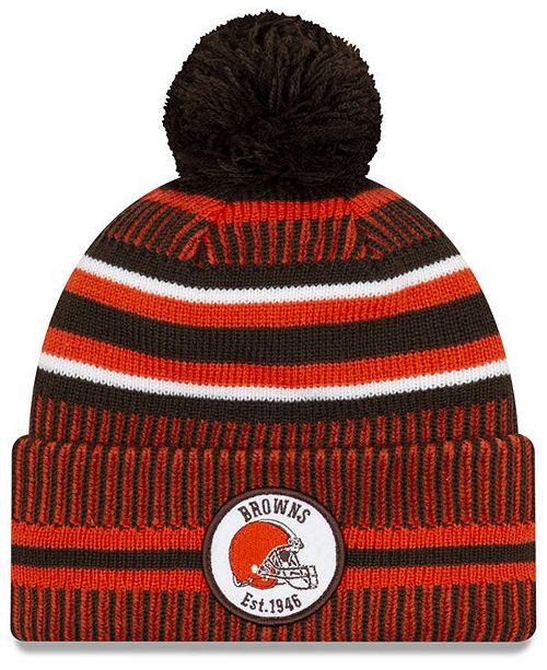 New Era Cleveland Browns Home Sport Knit Hat