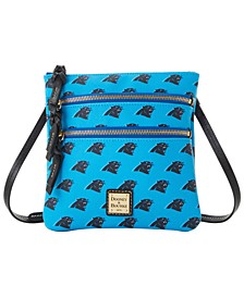 Carolina Panthers Saffiano Triple Zip Crossbody
