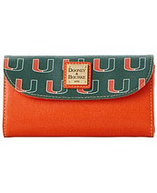 Miami Hurricanes Saffiano Continental Clutch