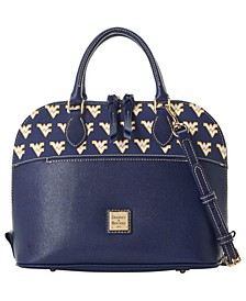 West Virginia Mountaineers Saffiano Zip Satchel