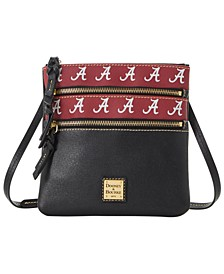 Alabama Crimson Tide Saffiano Triple Zip Crossbody