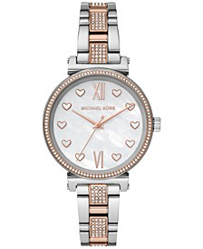 Women's Mini Sofie Two-Tone Stainless Steel Pavé Bracelet Watch 36mm
