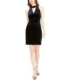 Sleeveless Keyhole Velvet Sheath Dress, Created For Macy's
