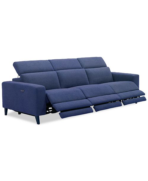 Furniture Sleannah 3-Pc. Fabric Sofa with 3 Power Recliners