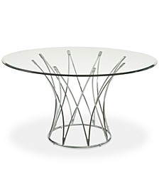 "Mercer 54"" Glass Top Round Dining Table"