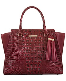 Priscilla Meadow Leather Satchel
