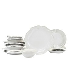 Incanto Stone Assorted 16-PC Dinnerware Set, Service for 4