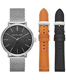 Men's Blake Stainless Steel Mesh Bracelet Watch Gift Set 42mm