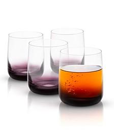 Black Swan Double Old Fashion Whiskey Glasses Set of 4