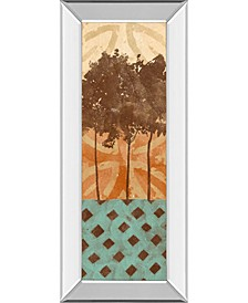 "Tribal Trio I by Alonzo Saunders Mirror Framed Print Wall Art, 18"" x 42"""