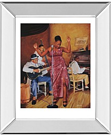 "Jazz Vocals Mirror Framed Print Wall Art, 22"" x 26"""