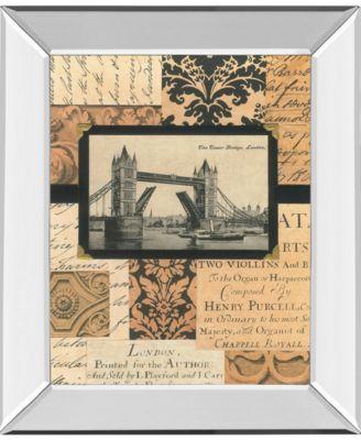 "Travel Collage II by Gillian Fullard Mirror Framed Print Wall Art, 22"" x 26"""