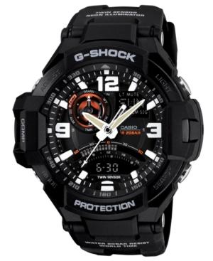 G-Shock Men's Analog-Digital Black Resin Strap Watch 51x52mm GA1000-1A