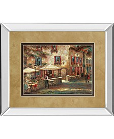 """Courtyard Cafe by Ruanne Manning Mirror Framed Print Wall Art, 34"""" x 40"""""""