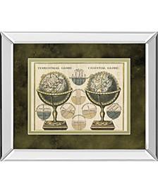 "Antique Globes by Wild Apple Portfolio Mirror Framed Print Wall Art, 34"" x 40"""
