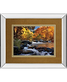 """River of Gold by Mike Jones Mirror Framed Print Wall Art, 34"""" x 40"""""""