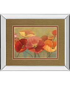 "Summer poppies by Sandra Iafrate Mirror Framed Print Wall Art, 34"" x 40"""