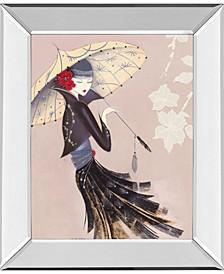 "Lotus Blossom by Marilyn Robertson Mirror Framed Print Wall Art, 22"" x 26"""