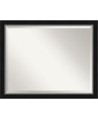 "Eva Silver-tone Framed Bathroom Vanity Wall Mirror, 31.12"" x 25.12"""