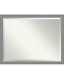 "Brushed Framed Bathroom Vanity Wall Mirror, 43.5"" x 33.50"""