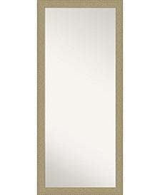"""Mosaic Gold-tone Framed Floor/Leaner Full Length Mirror, 28.25"""" x 64.25"""""""