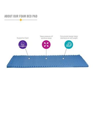 Convoluted Foam Bed Hospital Size Pad Mattress Topper