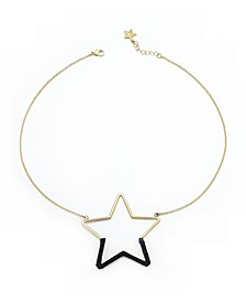 Star Necklace with Wrapped Suede